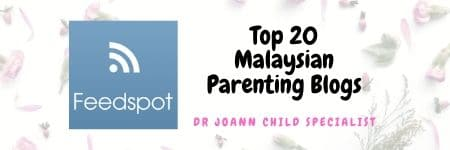 Feedspot Top 20 Malaysian Parenting Blog Dr JoAnn