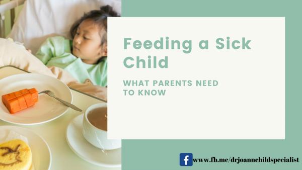 feeding a sick child
